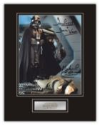 Stunning Display! Star Wars Dave Prowse Michael Culver rare dual signed professionally mounted