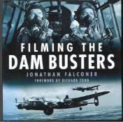 World War II hardback multi signed book tattled Filming The Dambusters signed inside by Johnny