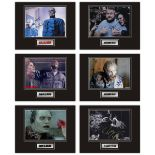 Set of 6 Stunning hand signed horror professionally mounted displays! This beautiful set of 6