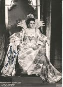 Monserrat Caballe signed 7 x 5 inch b/w photo from La Fenice. Good condition. All autographs come