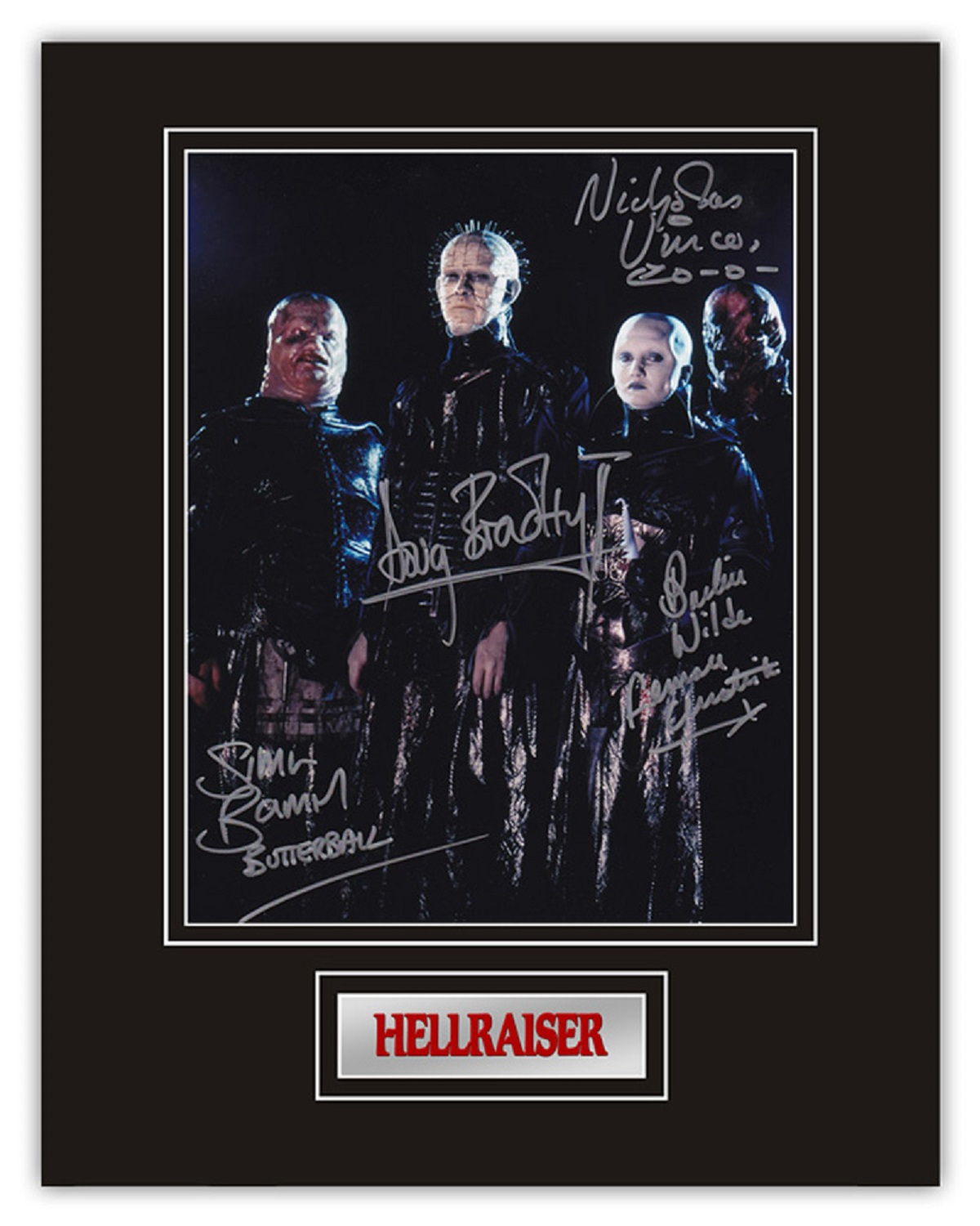 Set of 3 Stunning hand signed Hellraiser professionally mounted displays! This beautiful set of 3 - Image 2 of 4