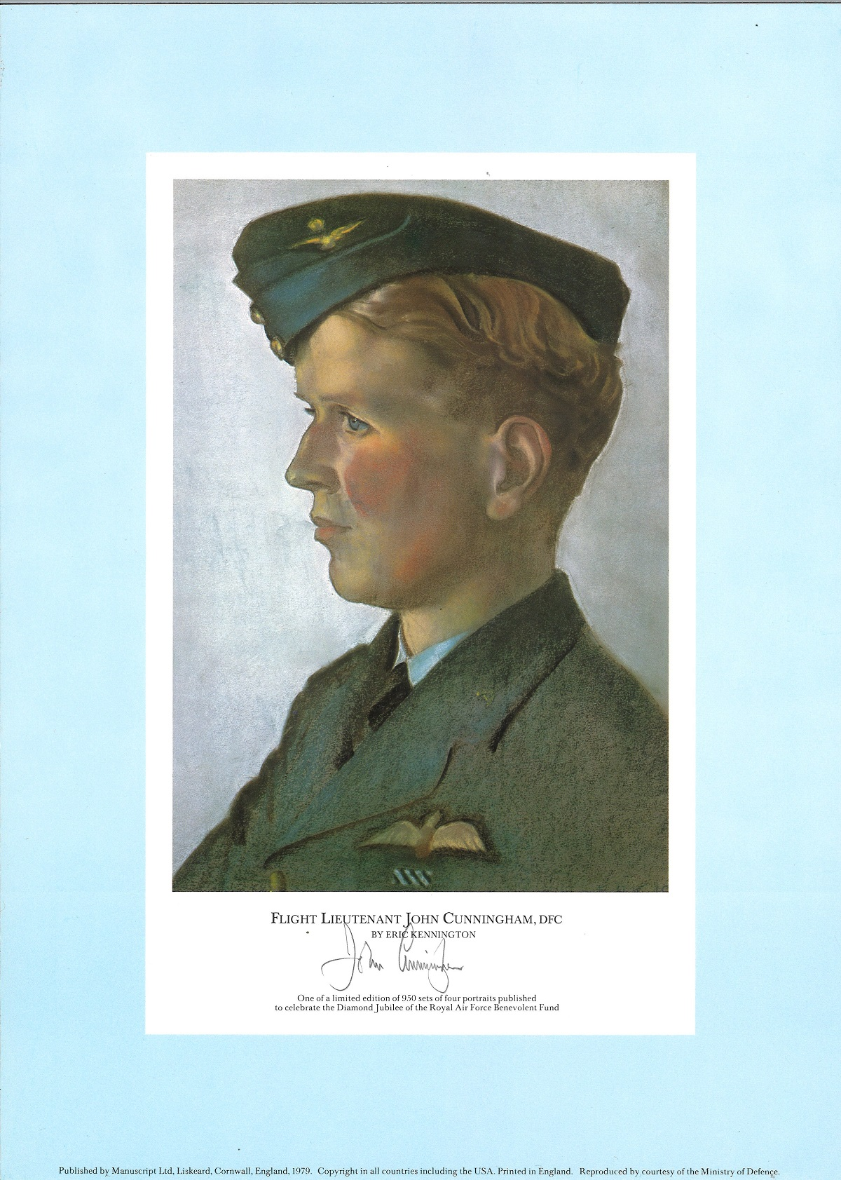 Rare WW2 signed prints The RAF Jubilee Limited Edition. This portfolio of prints was produced in - Image 5 of 5