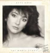 Kate Bush signed record The Whole Story signed to Joe Happy Christmas. Some foxing to cover but