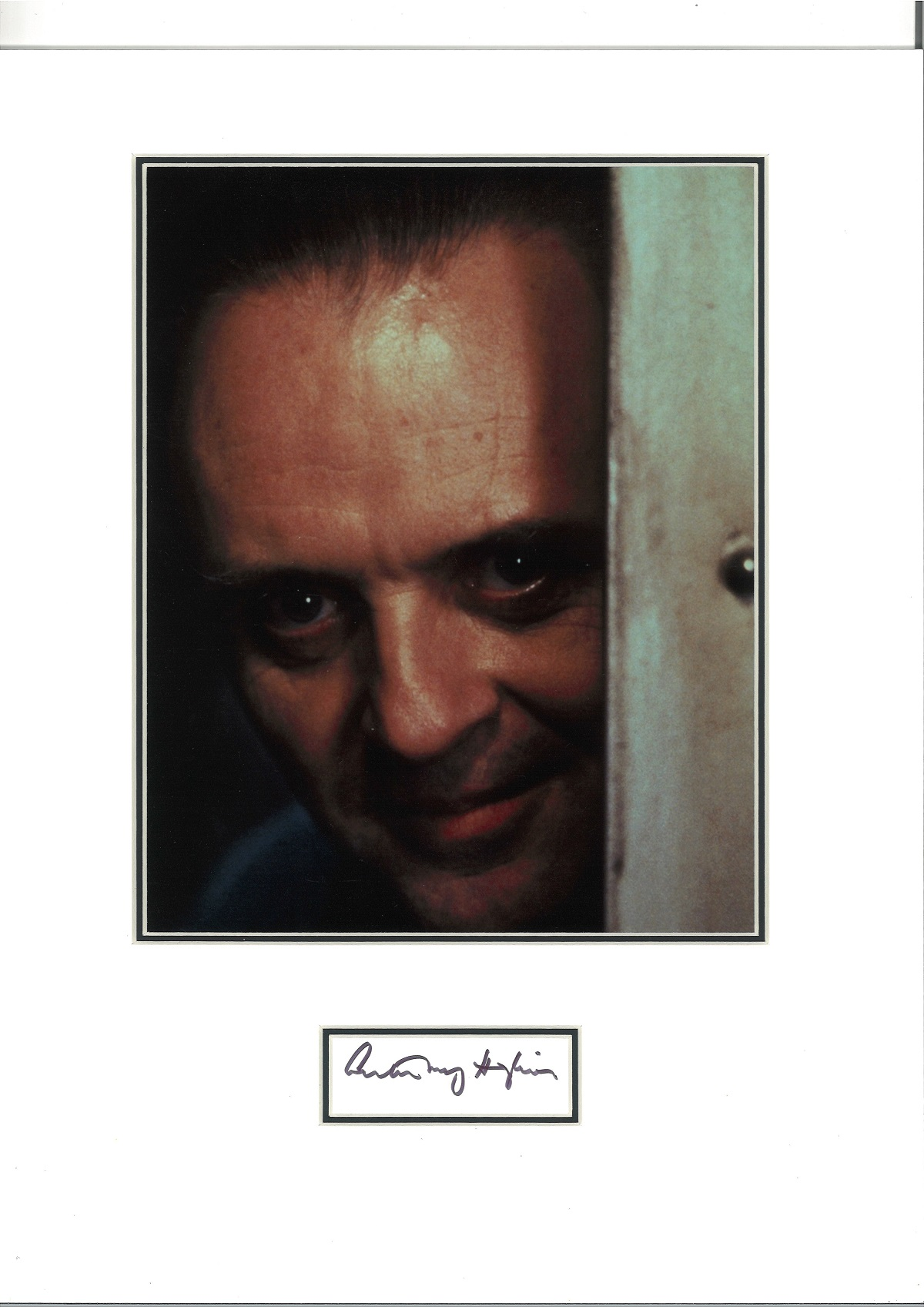 Anthony Hopkins 16x12 mounted signature piece includes fantastic Silence of the Lambs colour photo