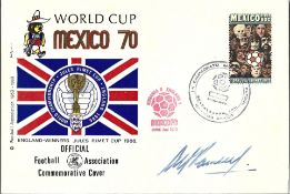 Alf Ramsey signed World Cup Mexico 1970 Official FA Commemorative cover with Mexico stamp and