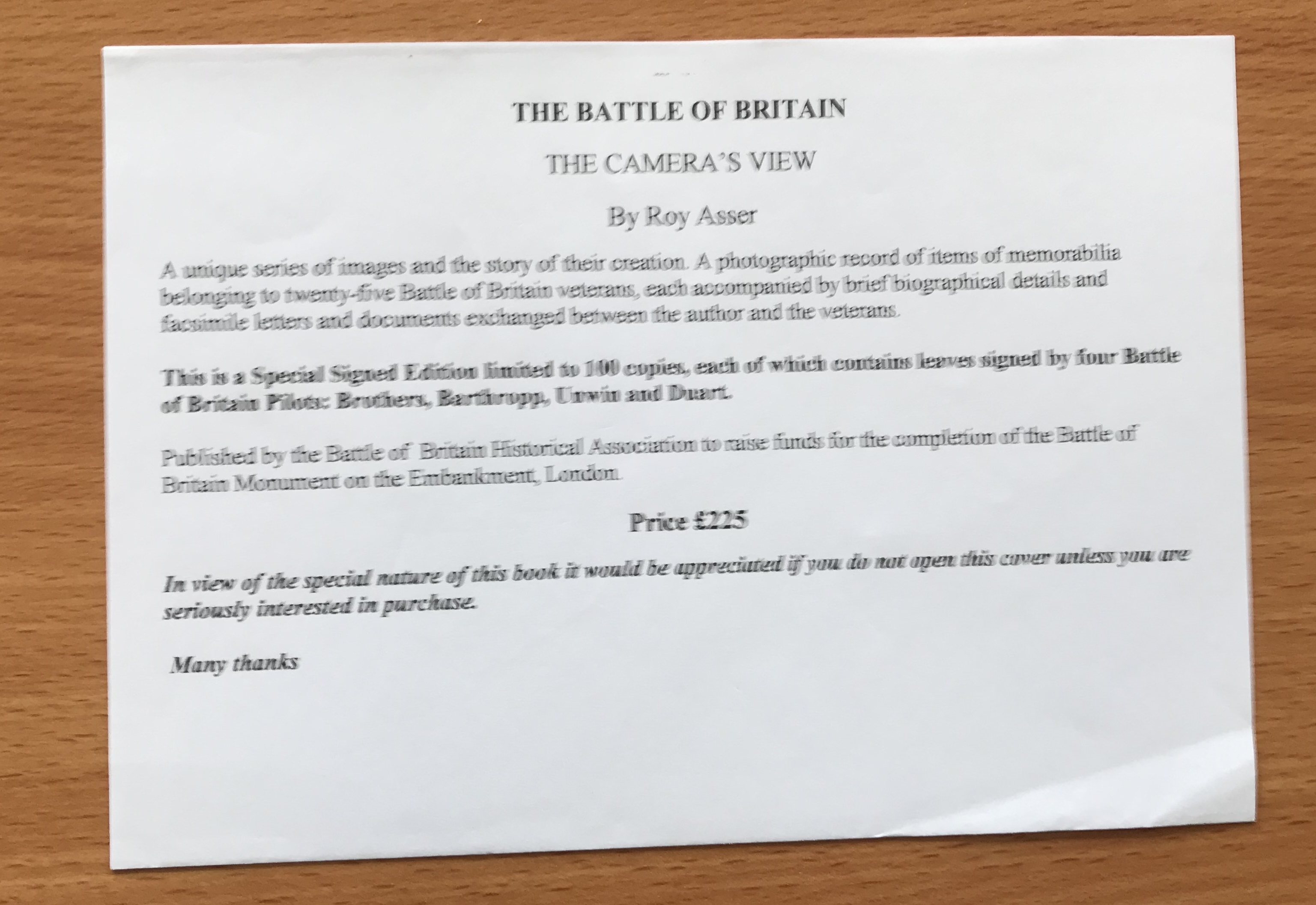 World War II The Battle of Britain The Cameras View A Fine Art Photographers Tribute to the Few by - Image 7 of 7