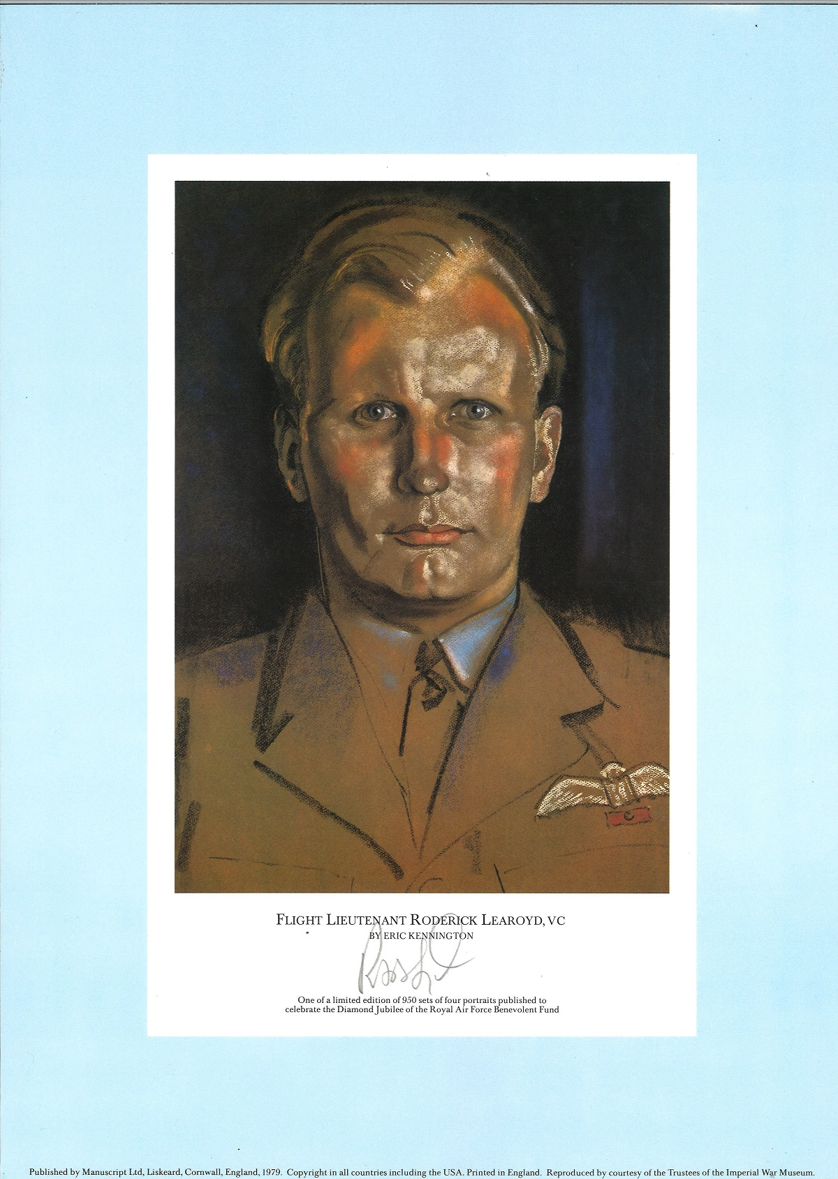 Rare WW2 signed prints The RAF Jubilee Limited Edition. This portfolio of prints was produced in - Image 2 of 5