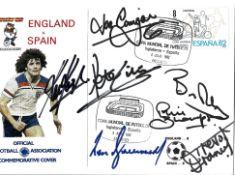 World Cup 1982 England v Spain multi signed FA commemorative cover signatures include Joe