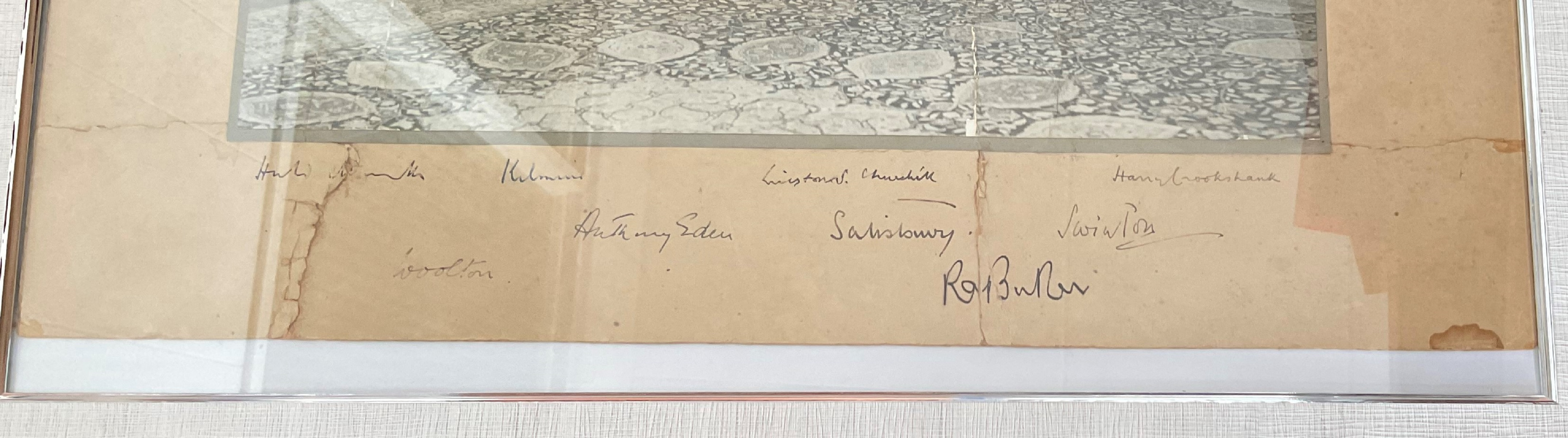 Winston Churchill Cabinet multi signed 21x17 mounted and framed signature piece includes rare - Image 2 of 2