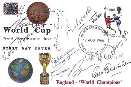 England World Cup 1966 squad members multi signed Special Commemorative FDC 11 fantastic