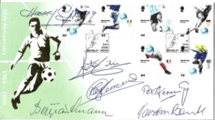 Goalkeeper Legends multi signed 2006 World Cup 40th Anniversary FDC signatures included are Harry