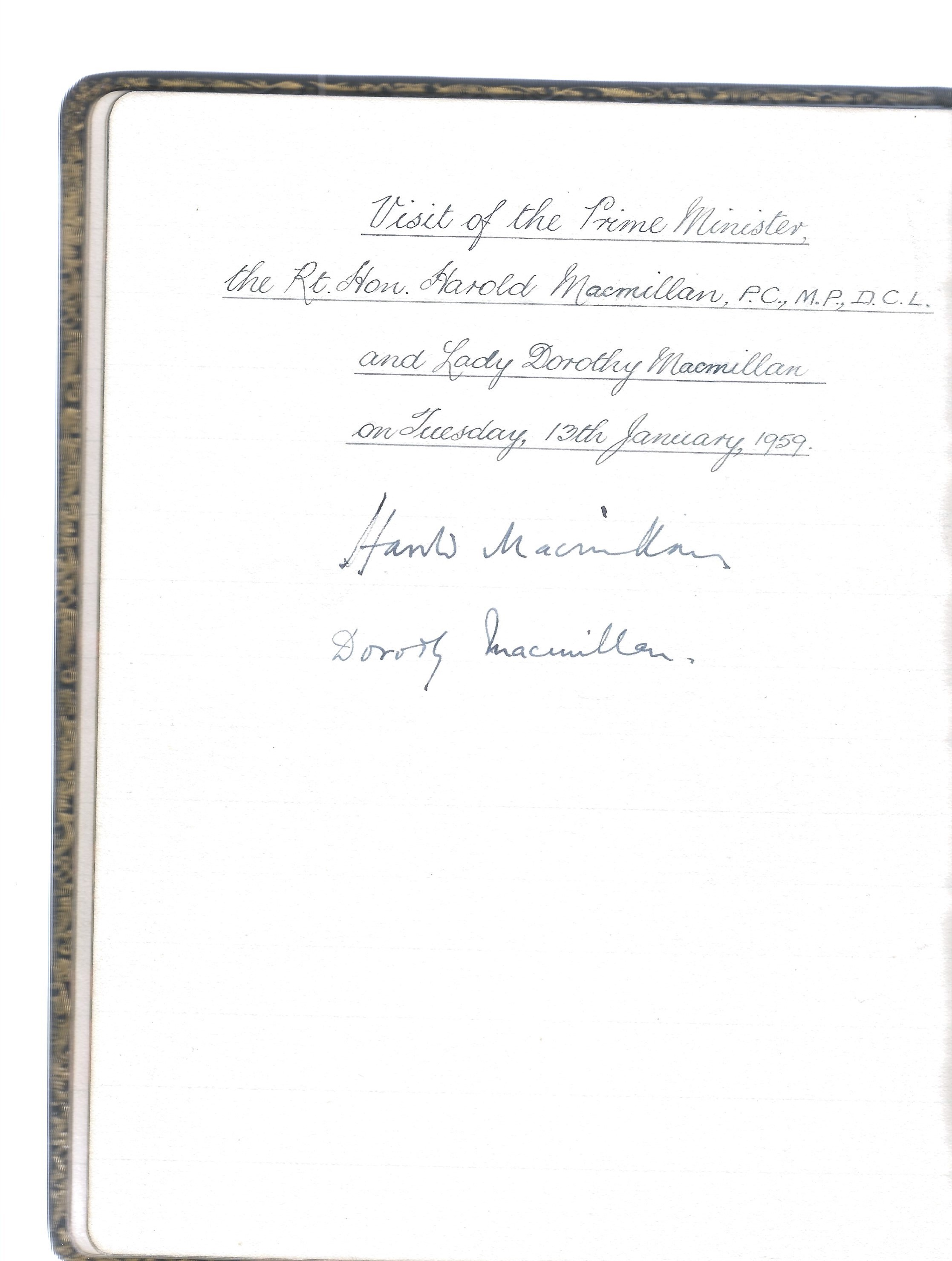 King George V and Queen Mary signed 1917 visitors book for Richardson, Westgarth & Co. Over 70 - Image 2 of 2