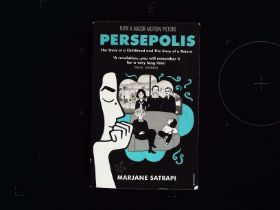 Persepolis Graphic Novel paperback book by Marjane Satrapi. Signed by author. Published 2008 by