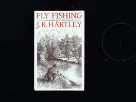 Fly Fishing hardback book by J. R. Hartley. Limited Editions 1991 Stanley Paul and Co ISBN 0-09-