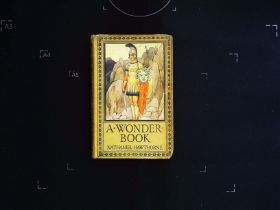 A Wonder-Book for Girls and Boys by Nathaniel Hawthorne hardback book 254 pages with inscription