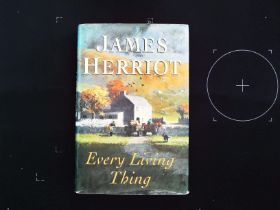 Every Living Thing signed and inscribed hardback book by James Herriot. 1992 Michael Jospeh ISBN 0-