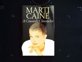 A Cowards Chronicles by Marti Caine hardback book 210 pages Published 1990 Century ISBN 0 7126