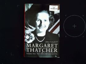 Margaret Thatcher Volume One: The Grocer's Daughter hardback book by John Campbell. First edition