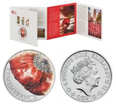 Royal Mint Remembrance Day 2018 A Time To Reflect poppy field presentation pack featuring brilliant,
