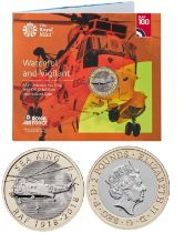 Royal Mint presentation pack from the Royal Air Force Centenary 2018 Collection: Features Watchful