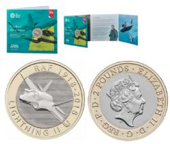Royal Mint presentation pack from the Royal Air Force Centenary 2018 Collection: Features The Next