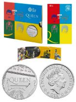 """LIMITED EDITION Royal Mint 2020 Music Legends brilliant uncirculated UK £5 Queen coin """"Hot Space"""""""
