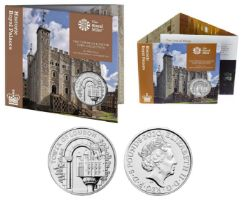 Royal Mint Tower of London brilliant uncirculated 2020 UK £5 coin in The White Tower presentation