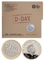 Royal Mint presentation pack commemorating the 2019 75th anniversary of the D-Day Landings. Features