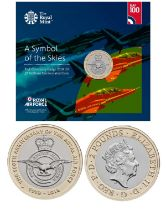 Royal Mint presentation pack from the Royal Air Force Centenary 2018 Collection: Features A Symbol