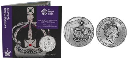 Royal Mint Tower of London Coin Collection brilliant uncirculated 2019 UK £5 coin in The Crown