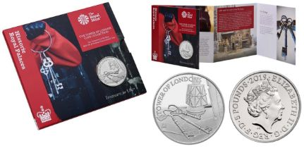 Royal Mint Tower of London Coin Collection brilliant uncirculated 2019 UK £5 coin in The Ceremony of