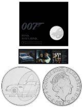 Royal Mint James Bond Aston Martin 2020 UK £5 brilliant uncirculated coin presentation pack - this