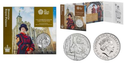 Royal Mint Tower of London Coin Collection brilliant uncirculated 2019 UK £5 coin in The Yeoman