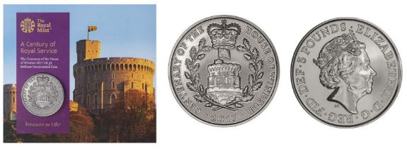 Royal Mint 'A Century of Service' brilliant uncirculated 2017 Centenary of the House of Windsor