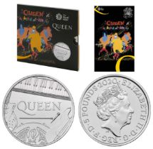 """LIMITED EDITION Royal Mint 2020 Music Legends brilliant uncirculated UK £5 Queen coin """"A Kind of"""