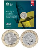 Royal Mint presentation pack from the Royal Air Force Centenary 2018 Collection: Features Bravery In