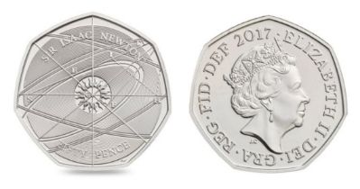 Royal Mint Sir Isaac Newton 2017 UK 50p brilliant uncirculated. Marked the 375th anniversary of