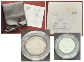 Royal Mint 'Treasured Christmas' 2019 gift box containing a UK 2019 Sixpence in a protective coin