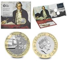 Royal Mint 'Voyage of Discovery' presentation pack (from a set of 3) marking 250th Anniversary of