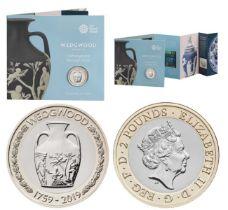 Royal Mint Wedgwood 'Craftmanship through Time' presentation pack featuring Wedgwood 260th