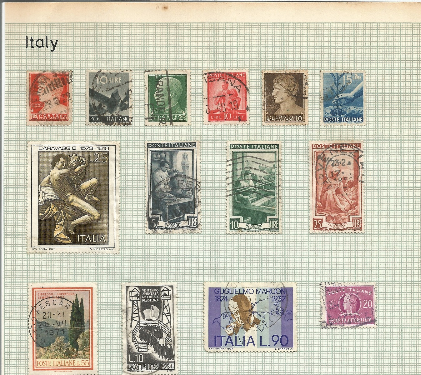 Italy, Switzerland, Greece and Crete stamps on 6 loose pages. Good condition. We combine postage - Image 2 of 3