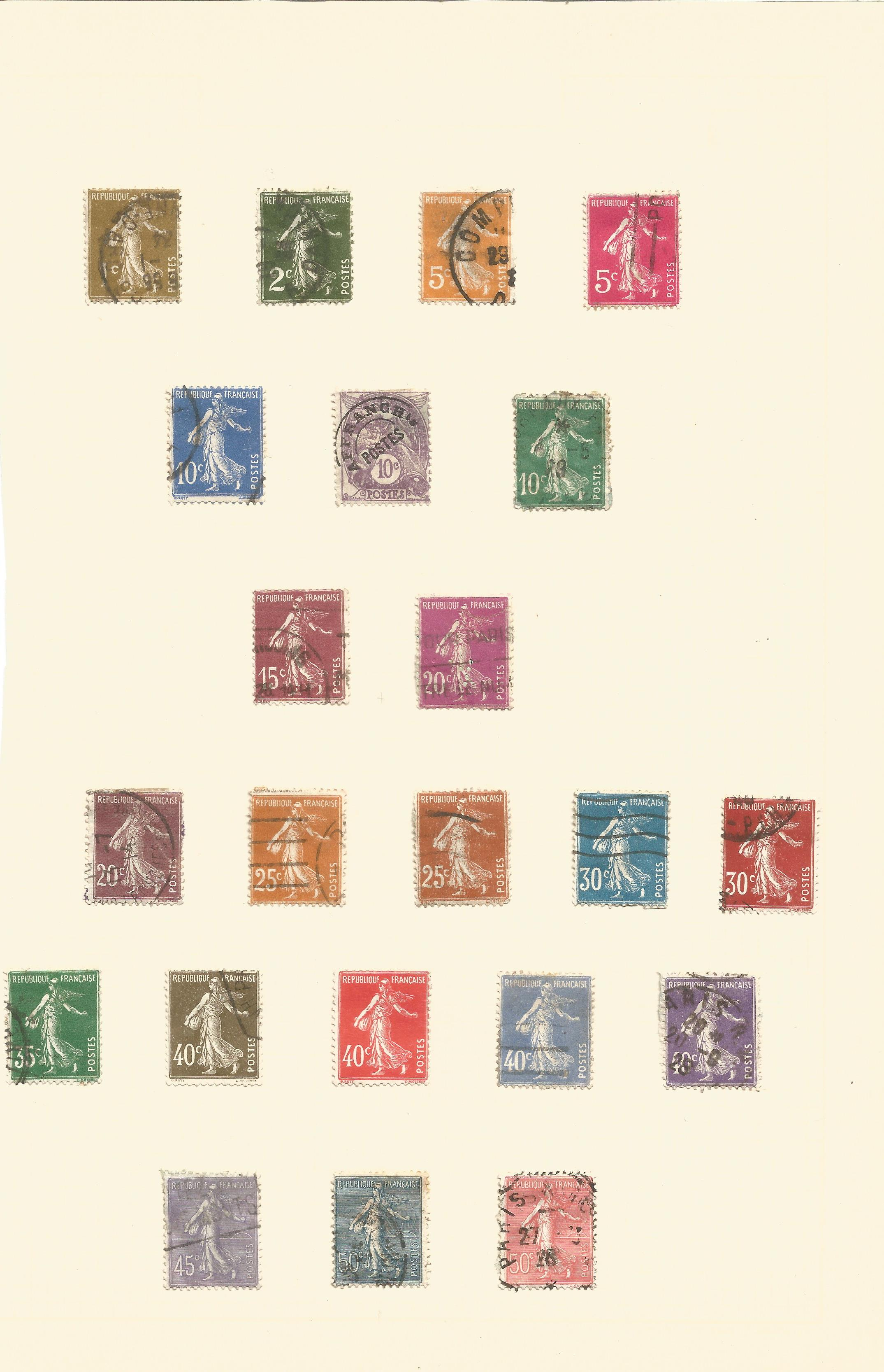 French stamp collection on 19 pages. 1876/1939. Good condition. We combine postage on multiple - Image 2 of 2
