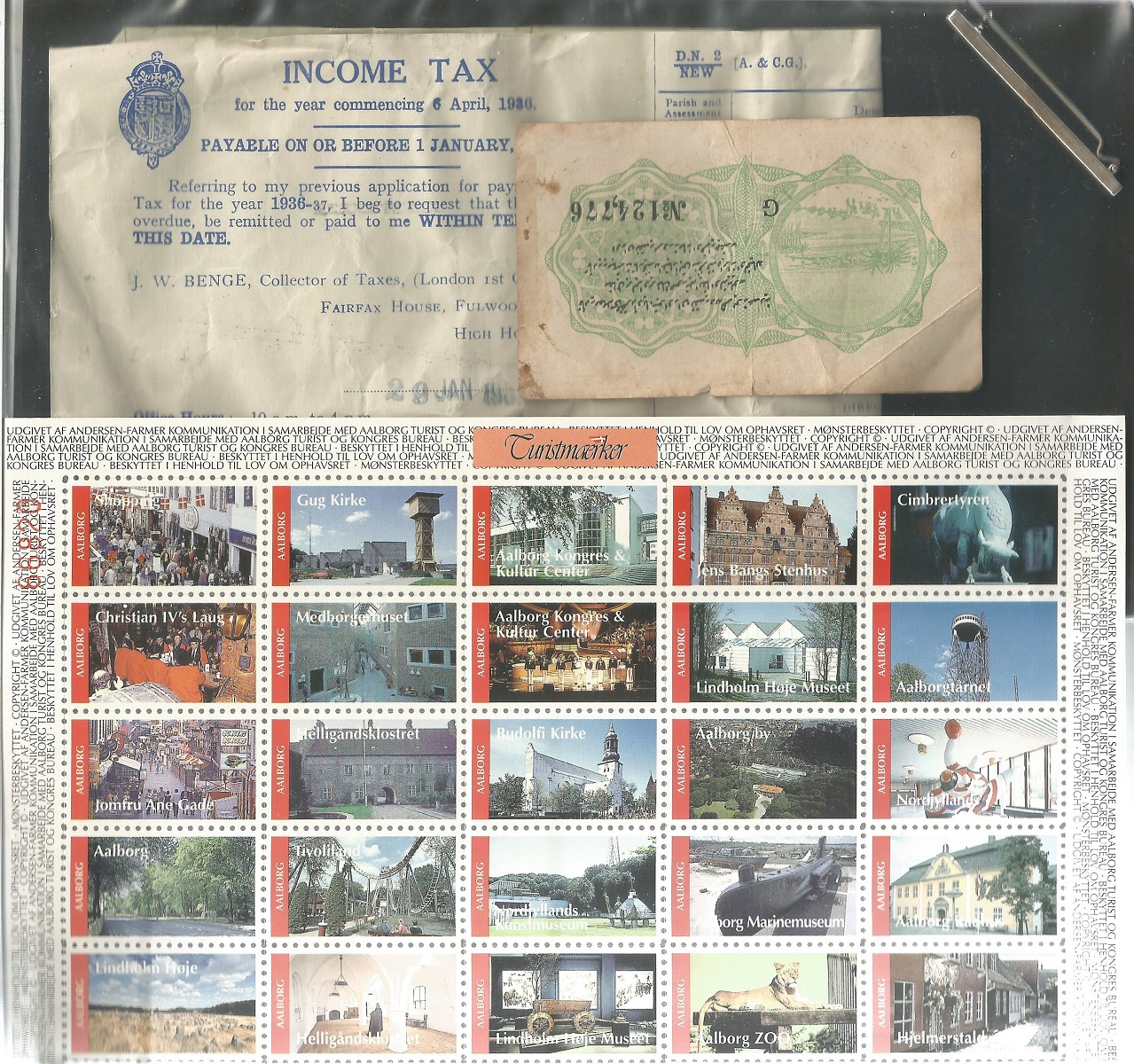 Assorted collection. Includes USA sheet of 50 stamps used, Denmark minisheet 1976 used. Literature - Image 2 of 3