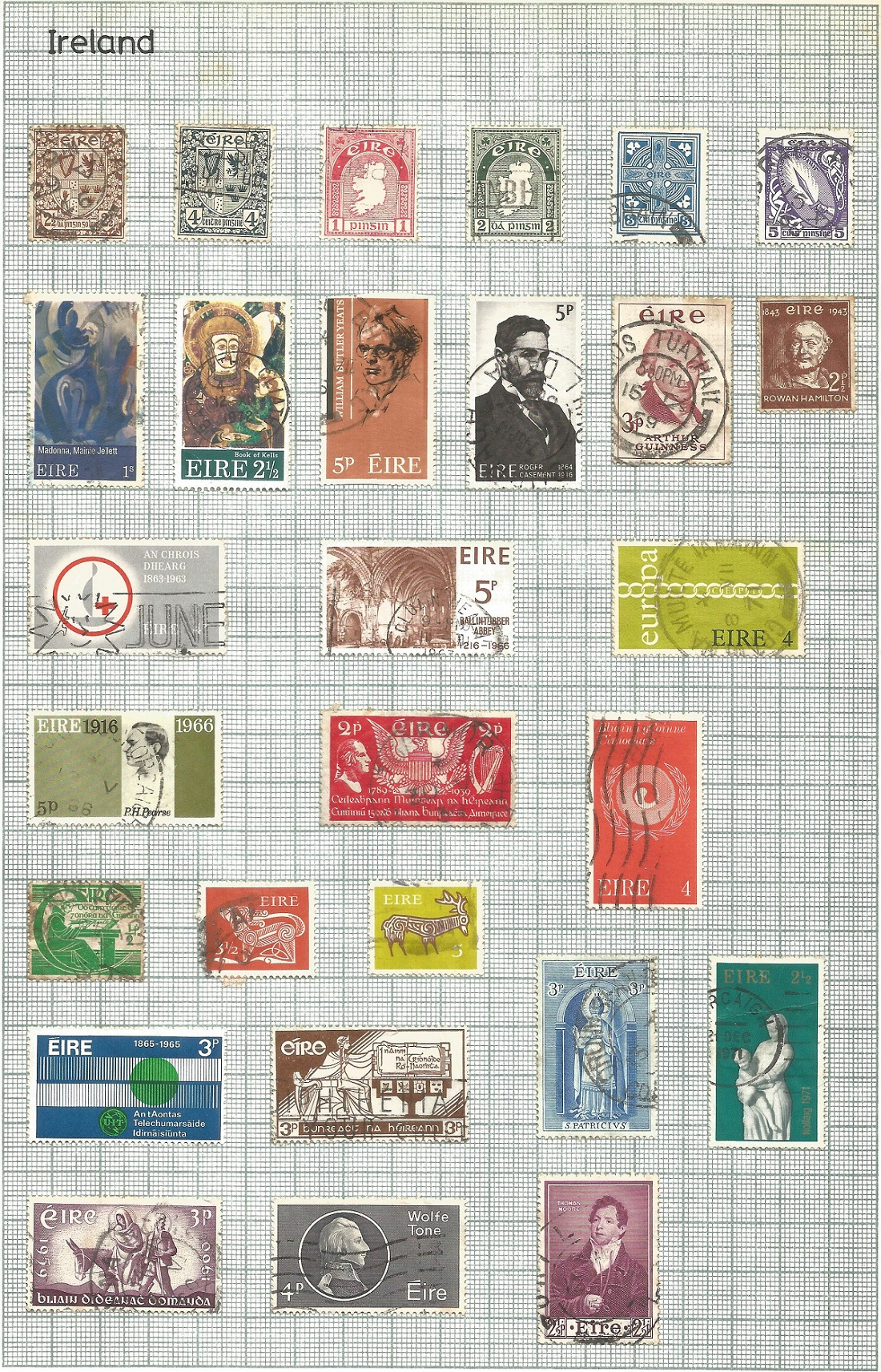 BCW stamp collection on 7 pages. Includes Ireland, Malaysia, Malta, South Africa. Good condition. We - Image 2 of 3