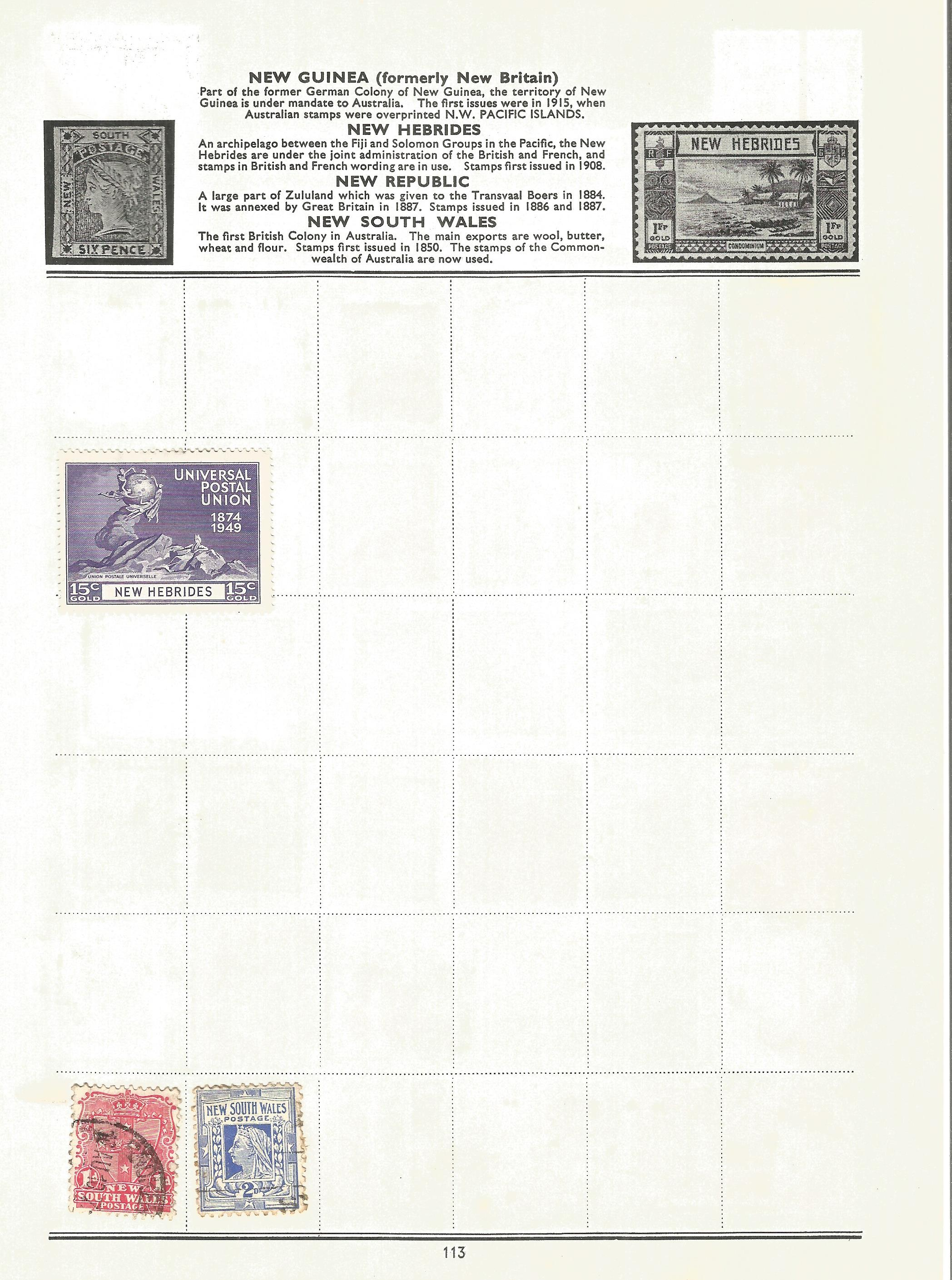 BCW stamp collection on 17 loose pages. Includes stamps from British Virgin Islands, Zanzibar, South - Image 4 of 5