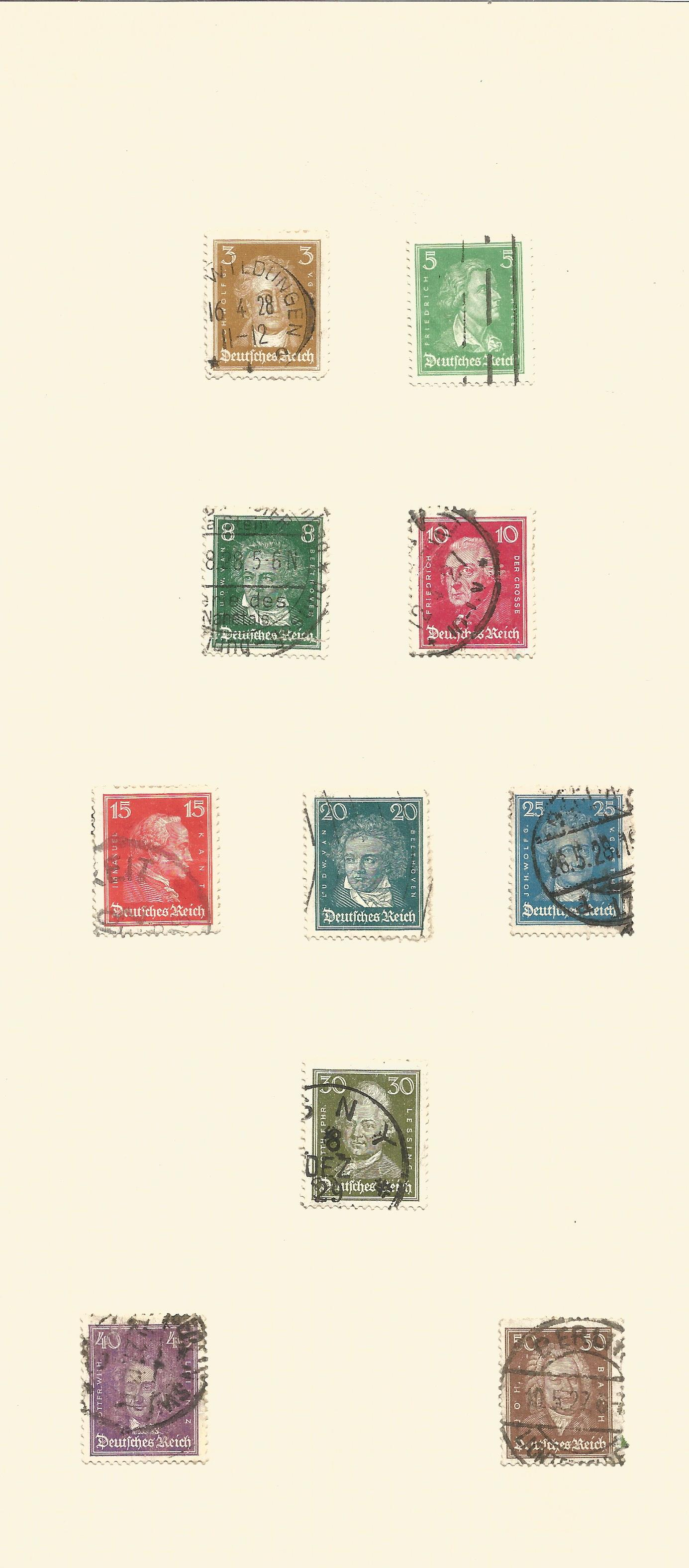 1920/1936 German stamps on 10 album pages. Good condition. We combine postage on multiple winning