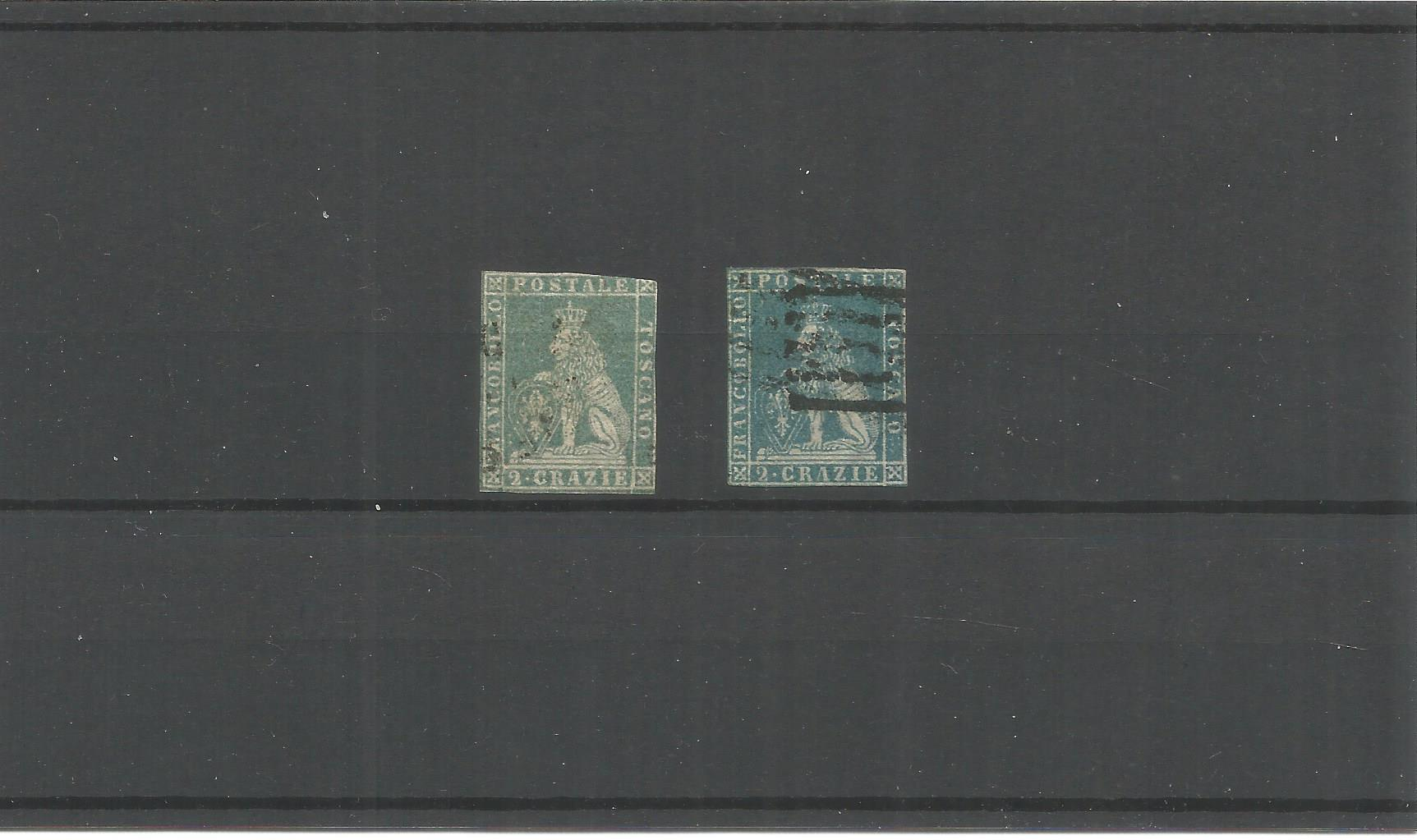 Tuscany stamps. Quantity 2. Good condition. We combine postage on multiple winning lots and can ship
