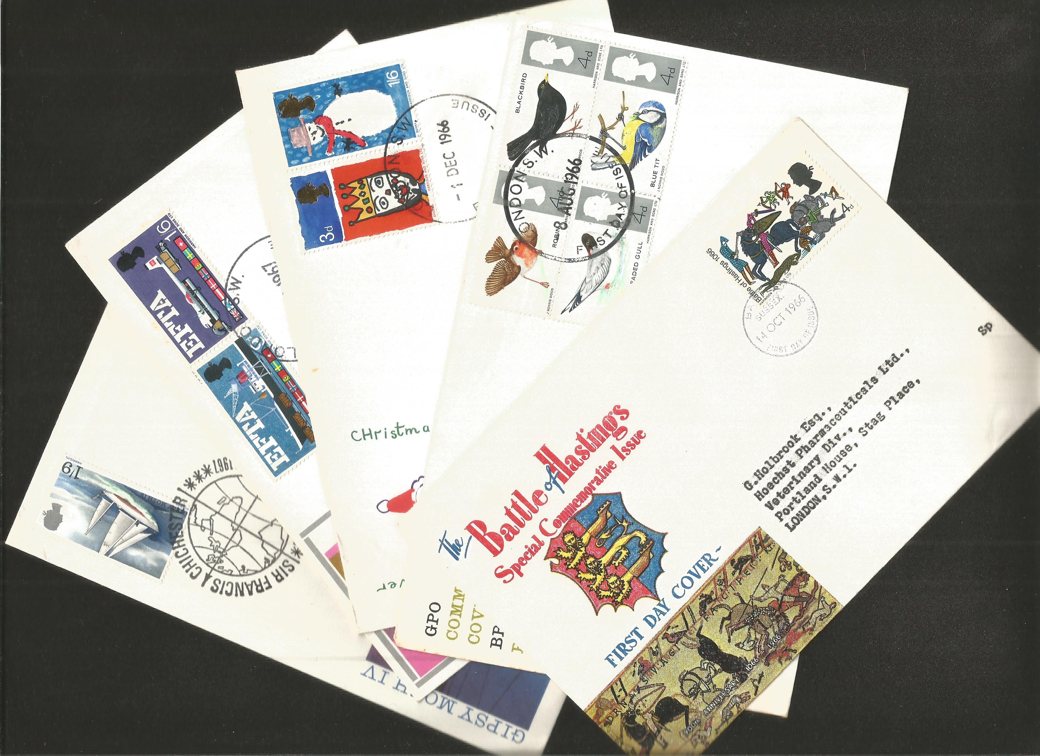 GB FDC collection. 9 included. 1966/1967. Typed addresses. Good condition. We combine postage on - Image 2 of 2