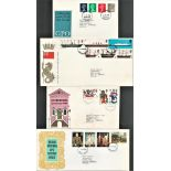GB FDC collection. 10 included. Typed addresses. 1967/1968. Good condition. We combine postage on