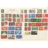 GB mint and used stamp collection on 2 loose pages. Good condition. We combine postage on multiple